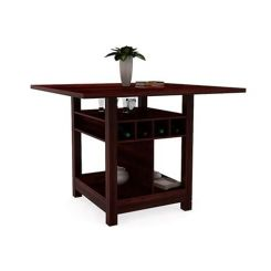 Cornel Dining Table With Storage (Mahogany Finish)