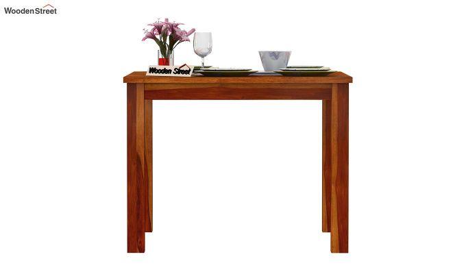 Elaine 2 Seater Dining Table (Honey Finish)-3