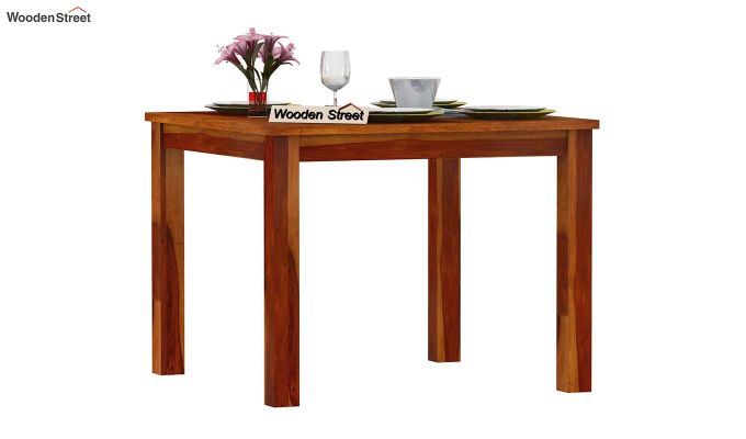 Elaine 4 Seater Dining Table (Honey Finish)-2