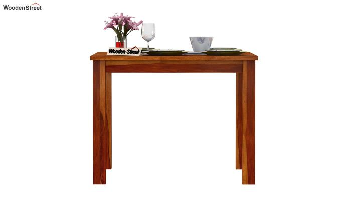 Elaine 4 Seater Dining Table (Honey Finish)-3