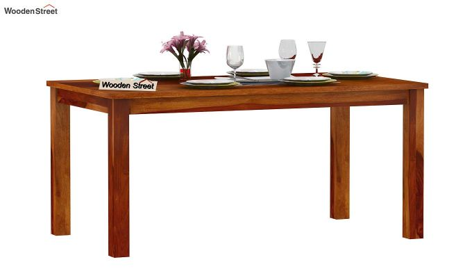 Elaine 6 Seater Dining Table (Honey Finish)-2