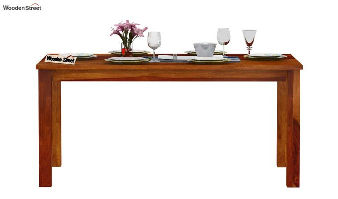 Elaine 6 Seater Dining Table (Honey Finish)-3