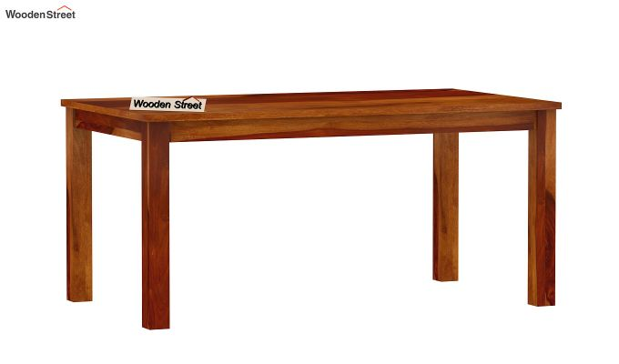 Elaine 6 Seater Dining Table (Honey Finish)-4