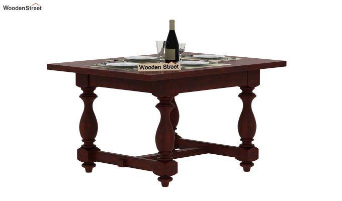 Gorsin 4 Seater Dining Table (Mahogany Finish)-2