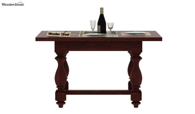 Gorsin 4 Seater Dining Table (Mahogany Finish)-3