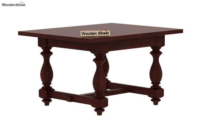 Gorsin 4 Seater Dining Table (Mahogany Finish)-4
