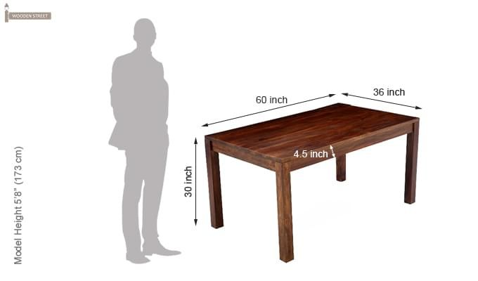 Flick Dining Table (Teak Touch)-5
