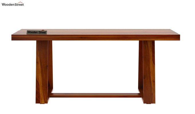 Garson 6 Seater Dining Table (Honey Finish)-5