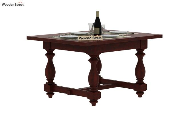 Gorsin 2 Seater Dining Table (Mahogany Finish)-2