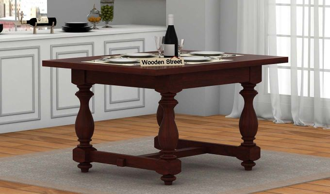 Gorsin 2 Seater Dining Table (Mahogany Finish)-1