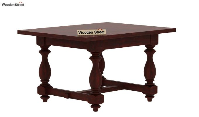 Gorsin 2 Seater Dining Table (Mahogany Finish)-4
