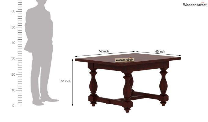 Gorsin 2 Seater Dining Table (Mahogany Finish)-6