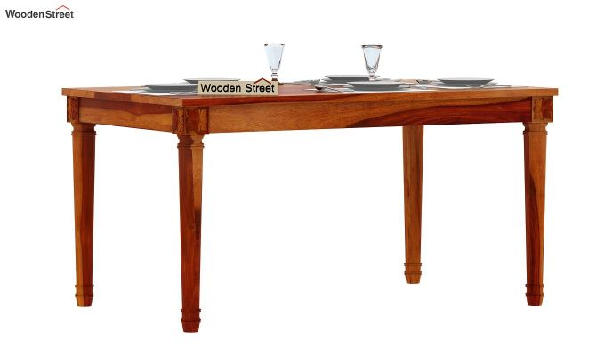 Henson 6 Seater Dining Table (Honey Finish)-1