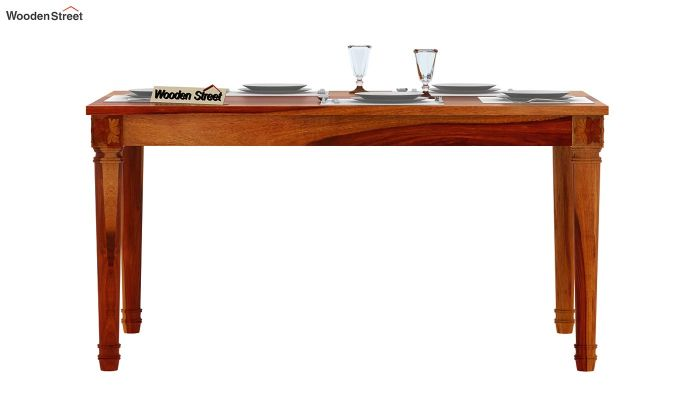 Henson 6 Seater Dining Table (Honey Finish)-2