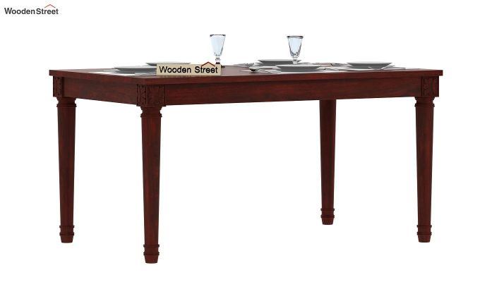 Henson 6 Seater Dining Table (Mahogany Finish)-1