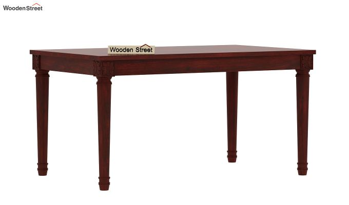 Henson 6 Seater Dining Table (Mahogany Finish)-3