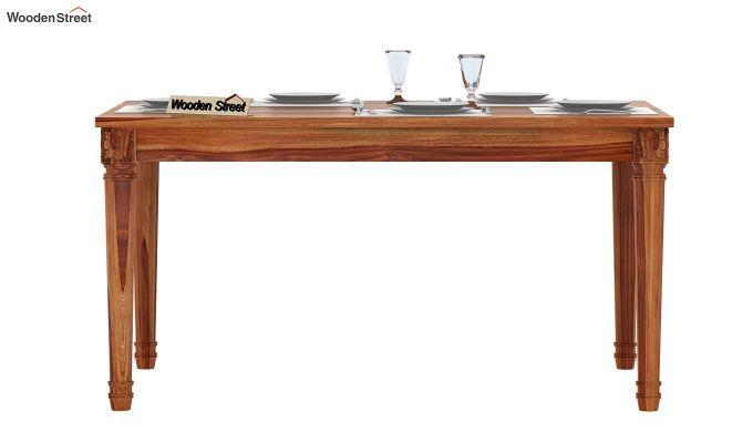 Henson 6 Seater Dining Table (Teak Finish)-2