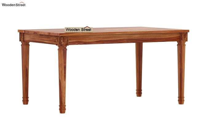 Henson 6 Seater Dining Table (Teak Finish)-3
