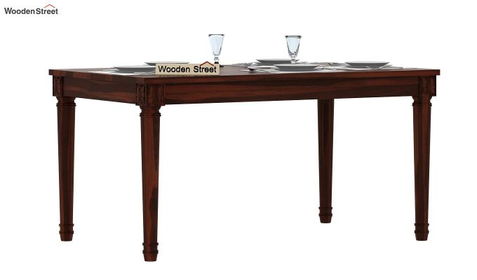 Henson 6 Seater Dining Table (Walnut Finish)-2