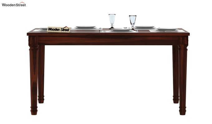 Henson 6 Seater Dining Table (Walnut Finish)-3