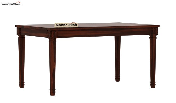Henson 6 Seater Dining Table (Walnut Finish)-4