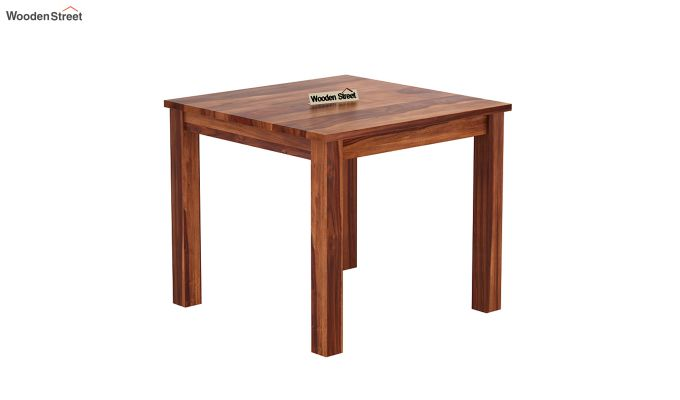 Janet 4 Seater Dining Table (Honey Finish)-2