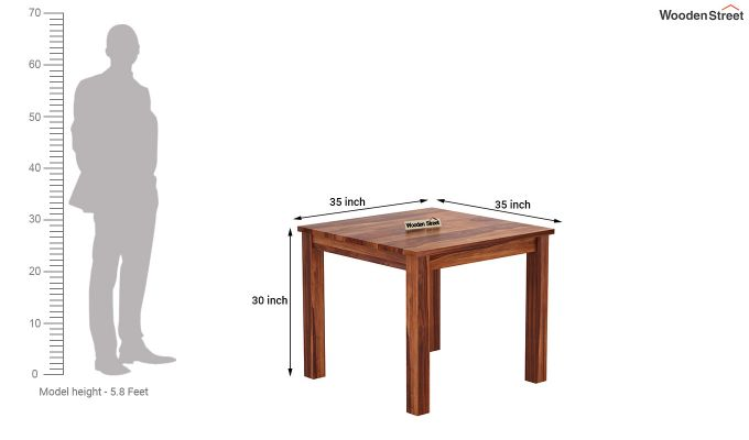 Janet 4 Seater Dining Table (Honey Finish)-4
