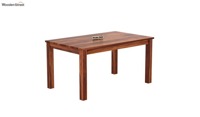 Janet 6 Seater Dining Table (Honey Finish)-2