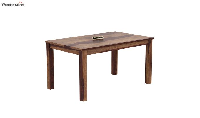 Janet 6 Seater Dining Table (Teak Finish)-2