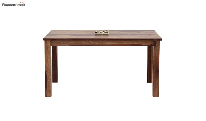 Janet 6 Seater Dining Table (Teak Finish)-3