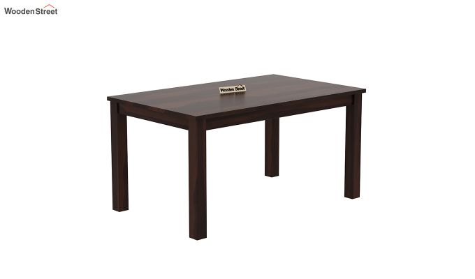 Janet 6 Seater Dining Table (Walnut Finish)-2