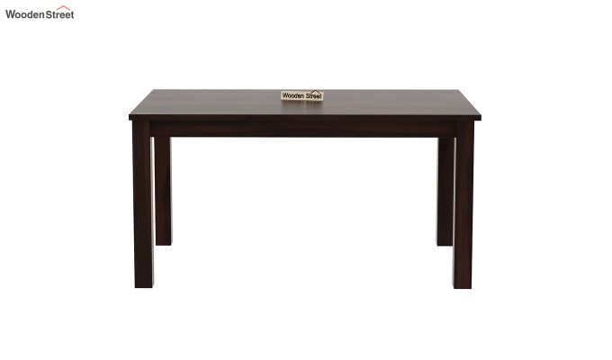 Janet 6 Seater Dining Table (Walnut Finish)-3