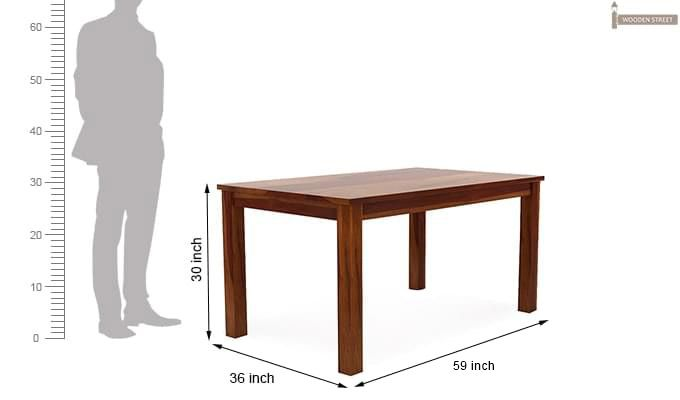 Janet Store Dining Table (Honey Finish)-3