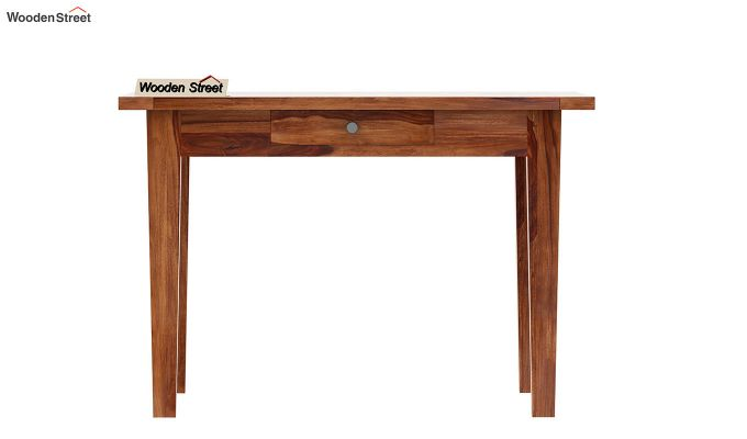 Mcbeth 2 Seater Dining Table With Storage (Teak Finish)-5