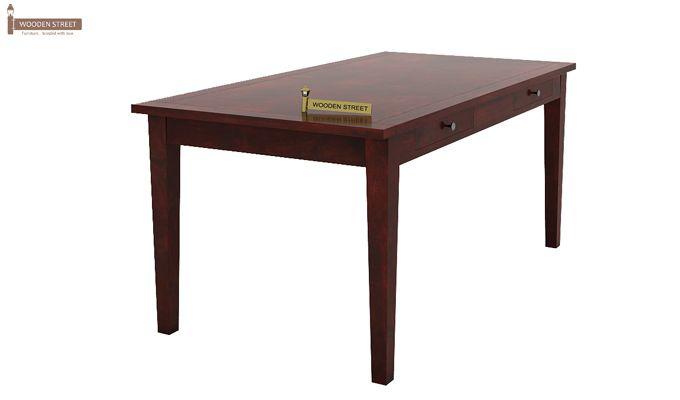 Mcbeth Dining Table With Storage (Mahogany Finish)-1