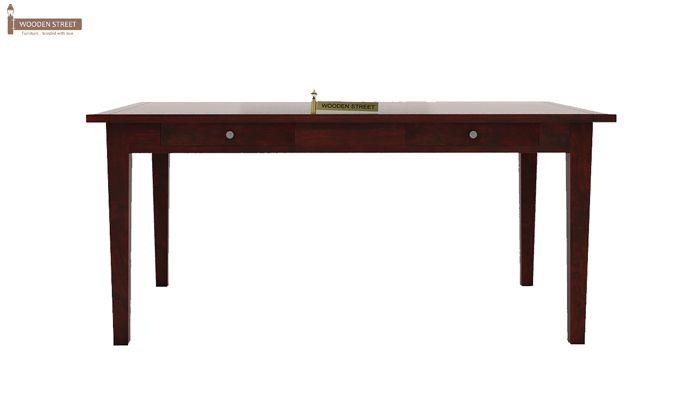 Mcbeth Dining Table With Storage (Mahogany Finish)-2