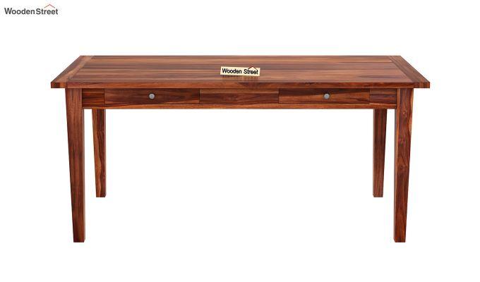 Mcbeth Dining Table With Storage (Honey Finish)-3
