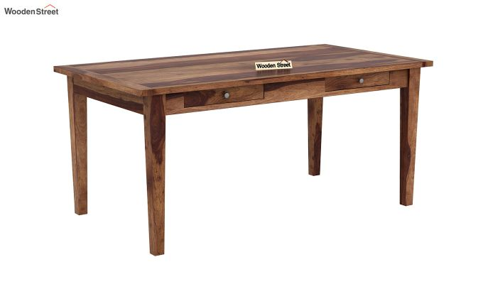 Mcbeth Dining Table With Storage (Teak Finish)-2