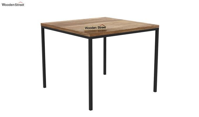 Olay Loft 2 Seater Dining Table (Teak Finish)-2