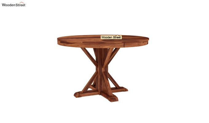 Orkus Round 4 Seater Dining Table (Honey Finish)-2