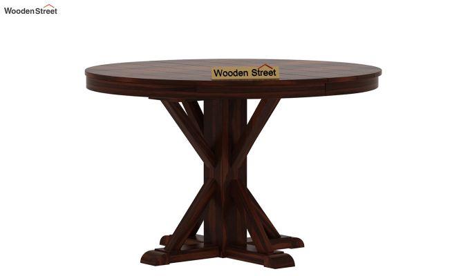 Orkus Round 4 Seater Dining Table (Walnut Finish)-4