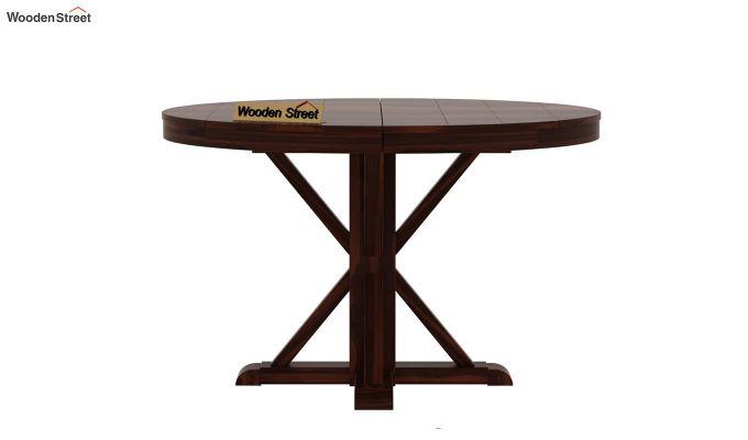 Orkus Round 4 Seater Dining Table (Walnut Finish)-5