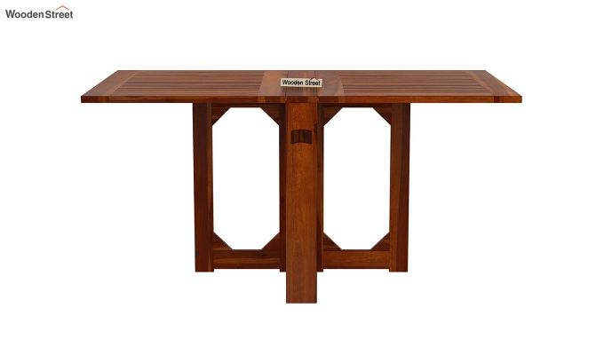 Paul Foldable Dining Table (Honey Finish)-2