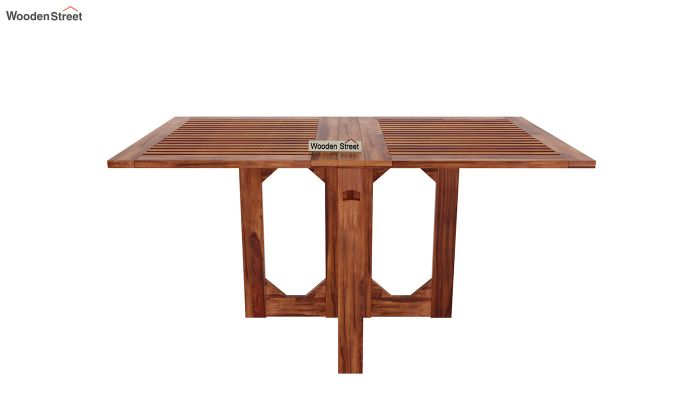 Paul Foldable Dining Table (Honey Finish)-3