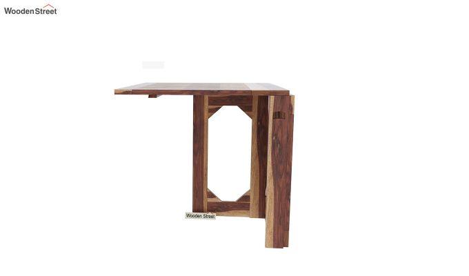 Paul Foldable Dining Table (Teak Finish)-5