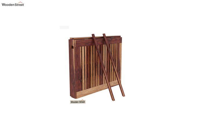 Paul Foldable Dining Table (Teak Finish)-6