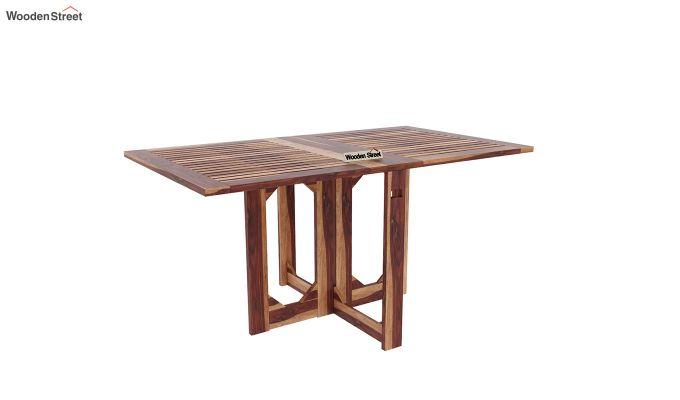 Paul Foldable Dining Table (Teak Finish)-2