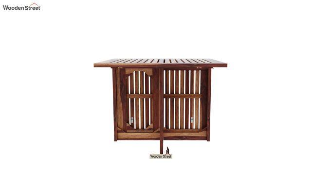 Paul Foldable Dining Table (Teak Finish)-4
