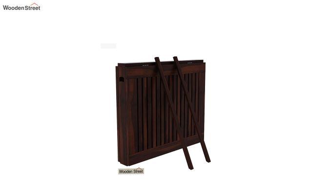 Paul Foldable Dining Table (Walnut Finish)-6