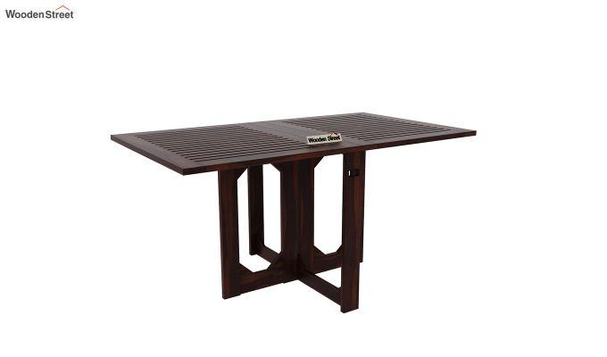 Paul Foldable Dining Table (Walnut Finish)-2